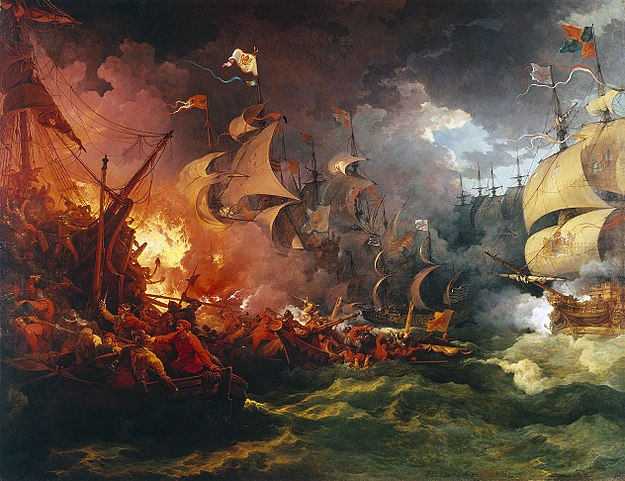 Defeat of the Spanish Armada,by Philip James de Loutherbourg