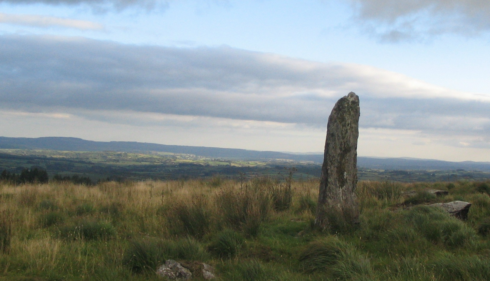Unidentified standing stone located between Millstreet and Ballinagree, Co Cork, Ireland (public domain)